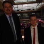 Michal Chajdukowski with Daniel Kawczynski MP