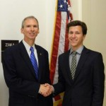 Wiktor Rybicki with Congressman Dan Lipinski
