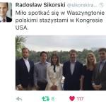 Meeting with Radek Sikorski, former Polish Foreign Secretary